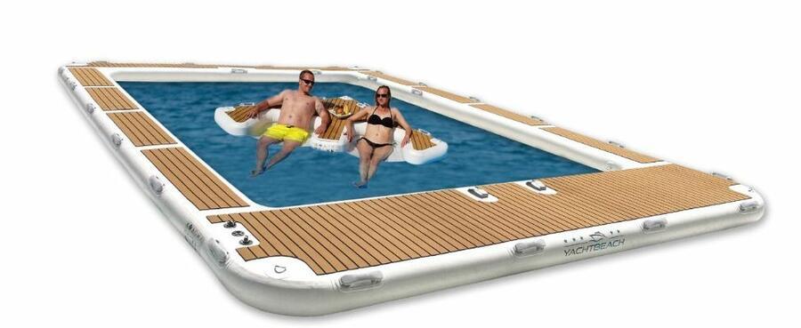Piscina Gonfiabile per Yacht 6,2x4,2 metri Luxury Pool Dropstich di Yachtbeach - Offerta di Mondo Nautica 24