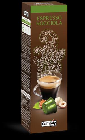 "10 CAPSULE CAFFITALY CAFFE' ""ESPRESSO NOCCIOLA"""