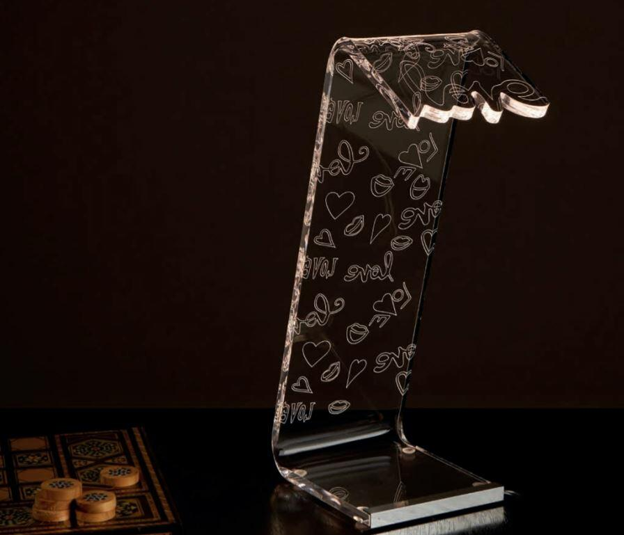 Lampada da Tavolo LACHYLIGHT Large di Emporium in PMMA con Decori, Varie Finiture - Offerta di Mondo Luce 24