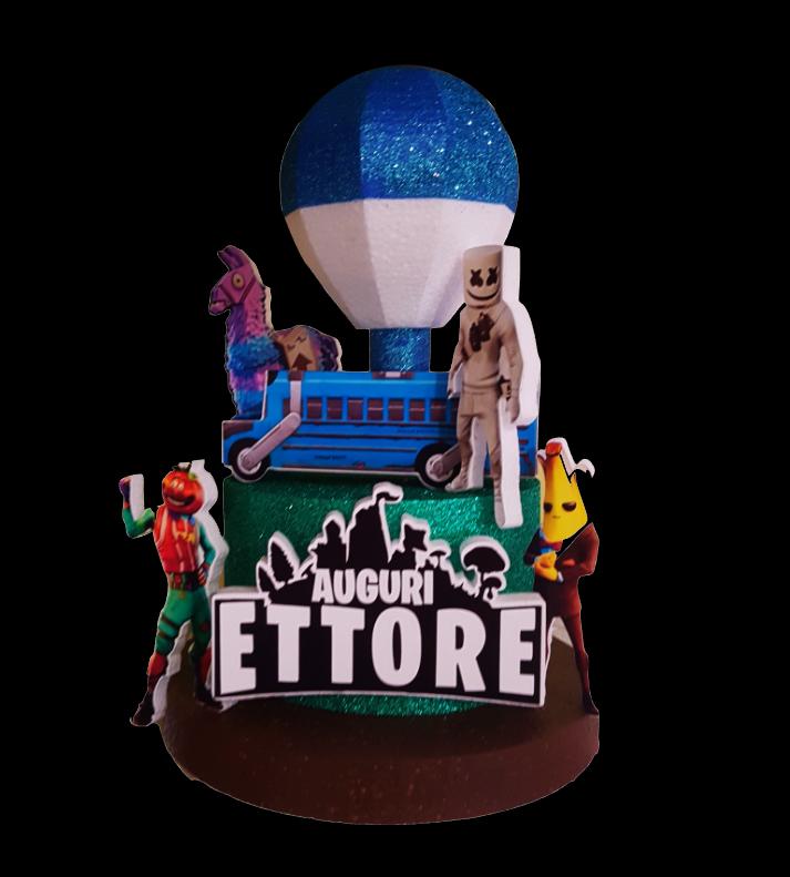 Cake topper FORTNITE