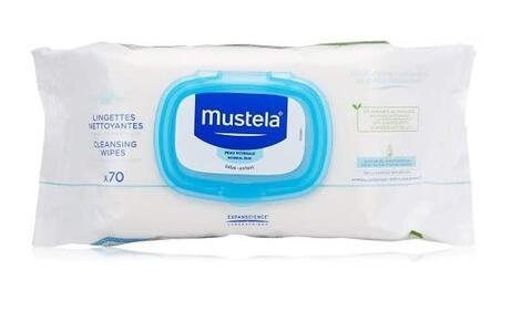 Mustela Salviettine Detergenti Bebè da 70 pezzi