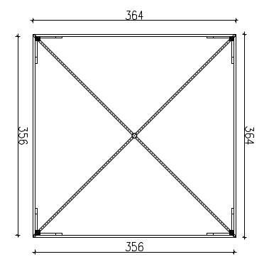 Gazebo in pino massello 3,60m x 3,60 impregnato in autoclave - TRASPORTO INCLUSO