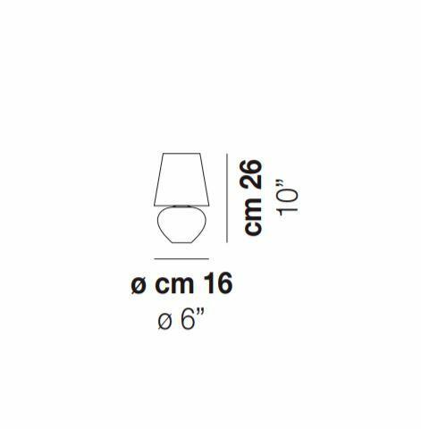 Lampada da Tavolo NAXOS in Vetro Bianco Satinato di Vetreria Vistosi, Varie Misure - Offerta di Mondo Luce 24