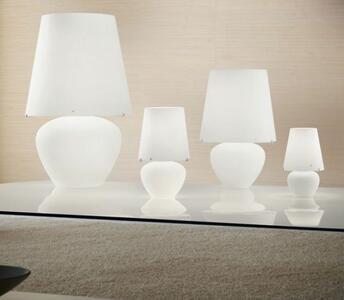 Lume NAXOS in Vetro Bianco Satinato di Vetreria Vistosi, Varie Misure - Offerta di Mondo Luce 24