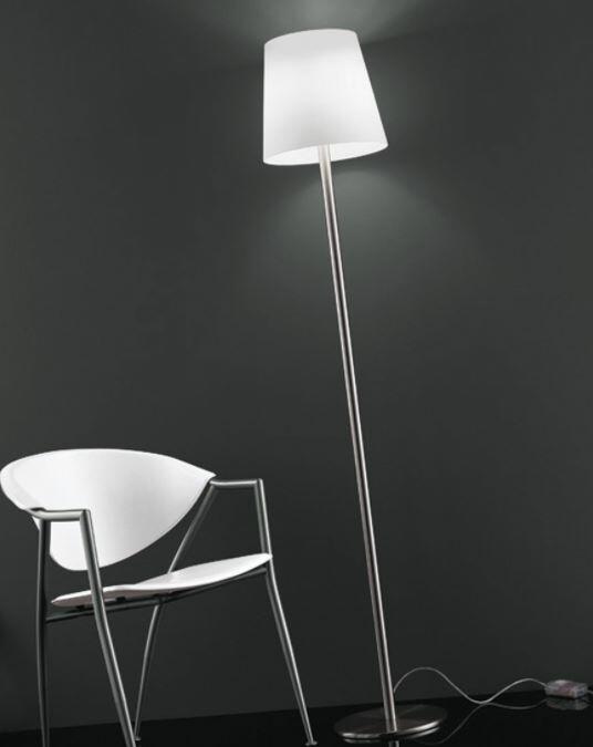 Lampada da Terra NAXOS in Vetro Bianco Satinato di Vetreria Vistosi - Offerta di Mondo Luce 24