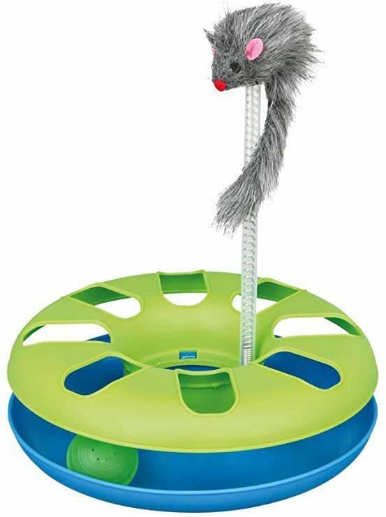 Trixie 4135 Crazy Circle Gioco Per Gatti topolino su Molla Palla Labirinto