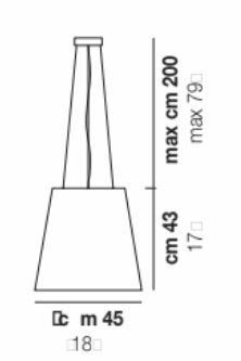 Lampada a Sospensione NAXOS in Vetro Bianco Satinato di Vetreria Vistosi, Varie Misure - Offerta di Mondo Luce 24