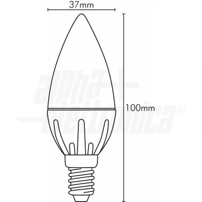 LAMPADA A LED BASIC SFERA OLIVA 4W E14 230V 3000K