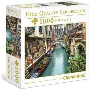 PUZZLE SCATOLA PICCOLA 1000 PEZZI HIGH QUALITY COLLECTION CANALE DI VENEZIA 50 X 69 CM CLEMENTONI