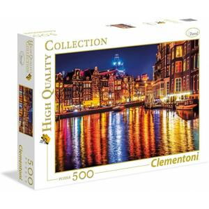 PUZZLE SCATOLA PICCOLA 500 PEZZI HIGH QUALITY COLLECTION AMSTERDAM 49 X 36 CM CLEMENTONI