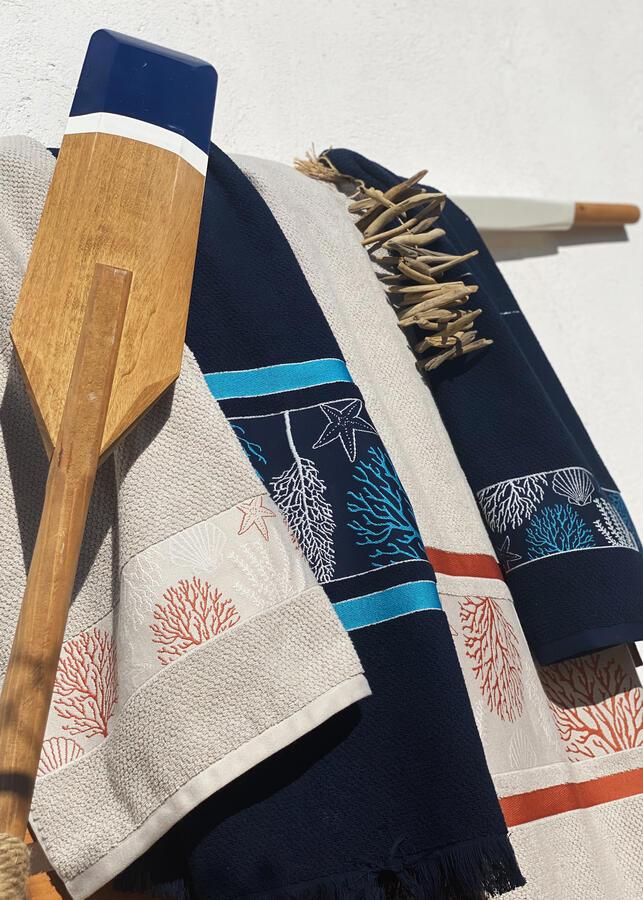 Set Asciugamani da Barca Ibiza Blu di Marine Business - Offerta di Mondo Nautica 24