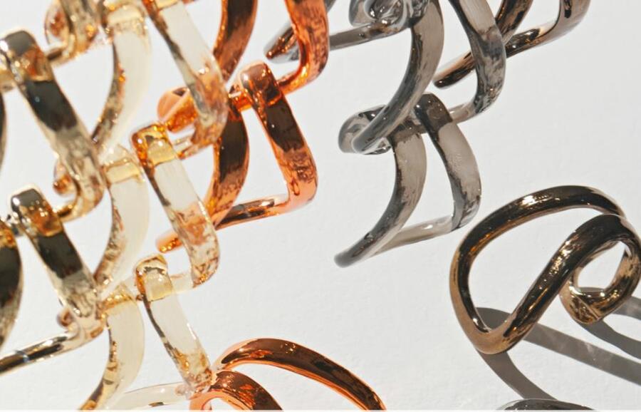 Lampada a Sospensione MINIGIOGALI SP 3E a Tre Luci in Cristallo di Vetreria Vistosi, Varie Finiture - Offerta di Mondo Luce 24