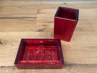 Set di accessori da bagno da appoggio  colore rosso