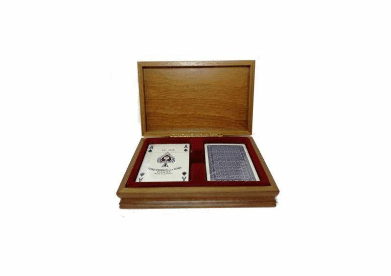 Carte da Poker in raffinato scrigno in legno - Didatto 810
