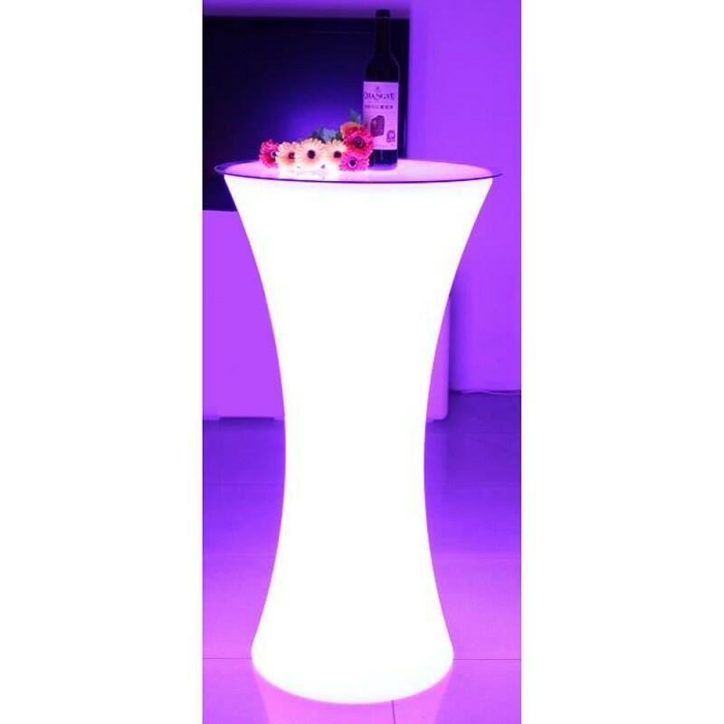 AFX Light - Tavolo alto con barra luminosa per esterni