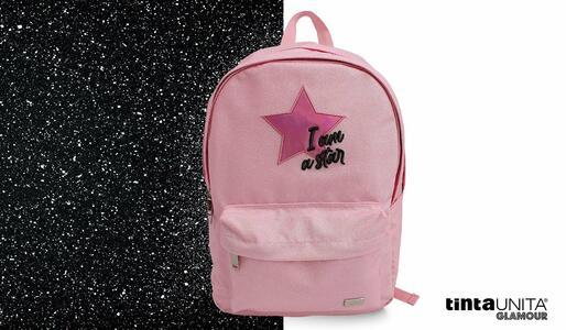 """ZAINO TEEN GLAMOUR """"I AM A STAR"""" ROSA GLITTER TINTAUNITA"""
