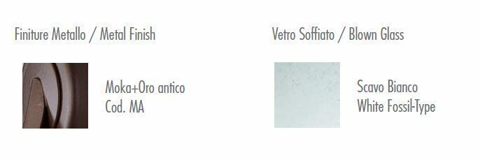 Lampada da Parete Neoclassica di Febo in Metallo Lavorato e Vetro Scavo Bianco, Varie Misure - Offerta di Mondo Luce 24