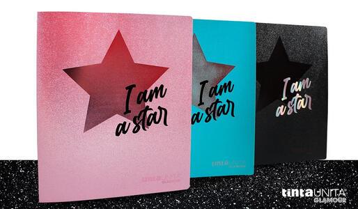 """COPERTINA IN PPL CON ANELLI GLAMOUR """"I AM A STAR"""" TINTAUNITA"""