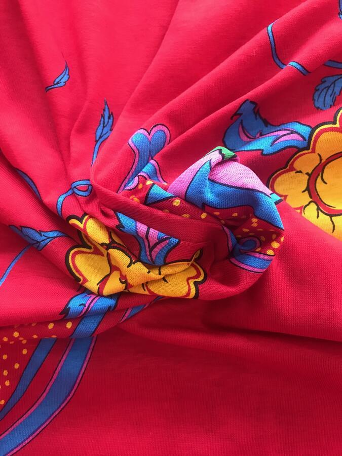 Jersey di cotone fantasia indiana