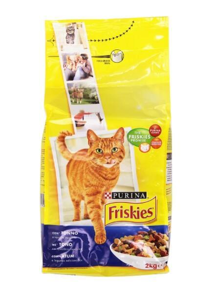 Friskies Adult Crocchette per il Gatto, con Tonno e Verdure Aggiunte, 2 kg