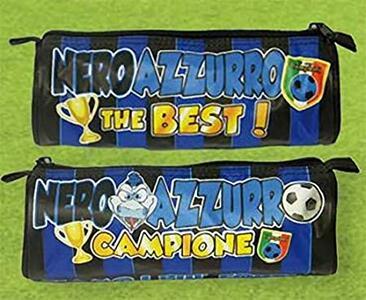 """ASTUCCIO TOMBOLINO INTER """"NEROAZZURRO THE BEST"""" 22 X 8 X 6 CM DOR"""