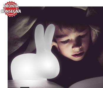 Lampada Ricaricabile da Terra Rabbit Small al LED di Qeeboo in Polietilene, Pronta Consegna - Offerta di Mondo Luce 24