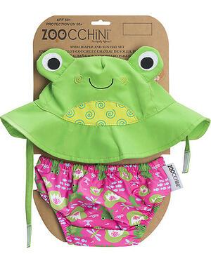 Set Baby Costumino contenitivo + Cappellino UPF 50+ - Rana