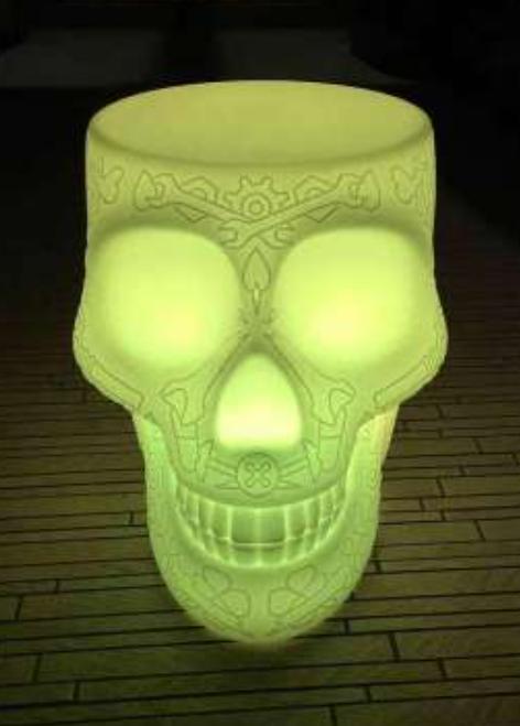 Lampada Ricaricabile da Terra Mexico Stool and Sidetable al LED di Qeeboo - Offerta di Mondo Luce 24