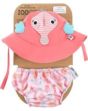 Set Baby Costumino contenitivo + Cappellino UPF 50+ - Cavalluccio Marino