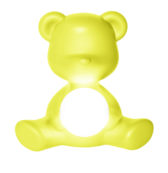 Lampada da Tavolo e da Terra Teddy Girl con LED ricaricabile di Qeeboo in Polietilene, Varie Finiture