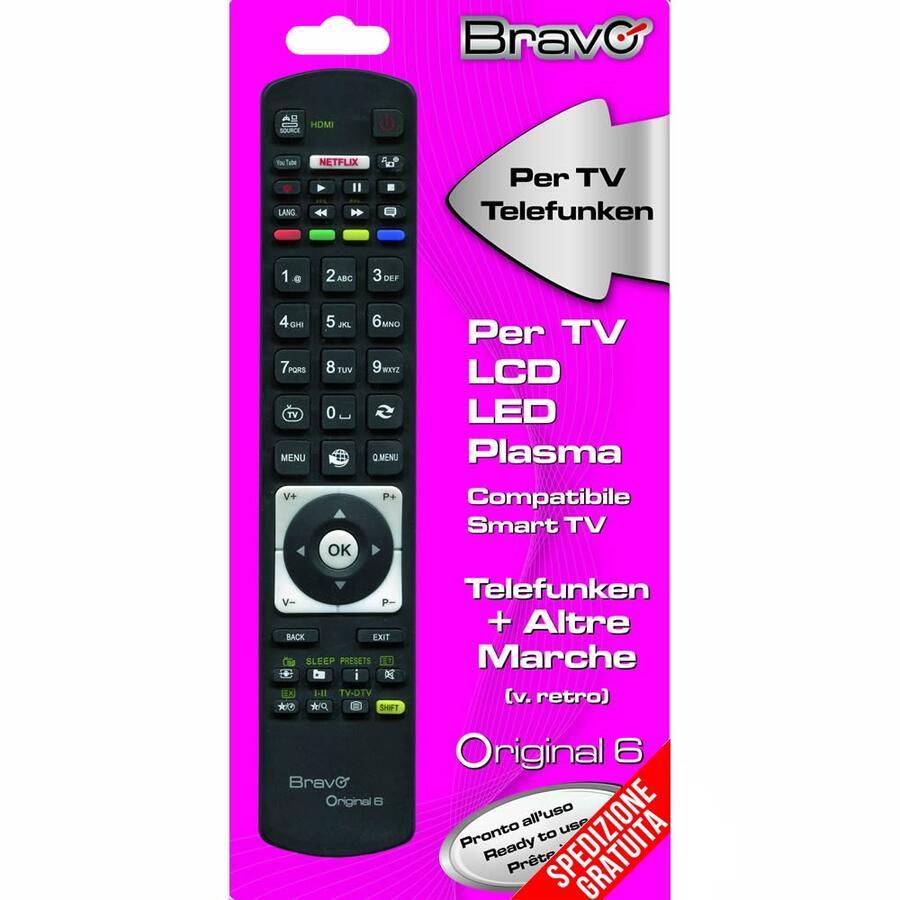 TELECOMANDO PER TELEVISORI TELEFUNKEN - ORIGINAL 6