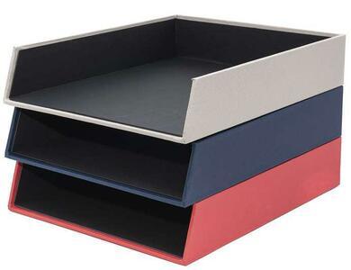 Vaschetta porta corrispondenza A4 - colore blu - Linea Living - Buffetti 0220LV100
