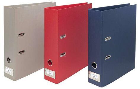 Raccoglitore senza custodia Dorso 8 cm - f.to Commerciale - colore rosso - Linea Living - Buffetti 7806LV300