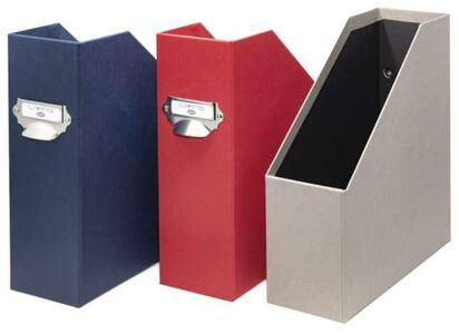 Scatola Portariviste Dorso 11cm - colore tortora - Linea Living - Buffetti 7820LV800