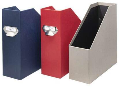 Scatola Portariviste Dorso 11cm - colore rosso - Linea Living - Buffetti 7820LV300