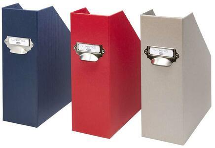 Scatola Portariviste Dorso 11cm - colore blu - Linea Living - Buffetti 7820LV100