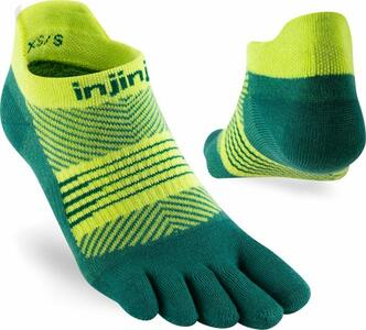 Calzini Injinji Women's Run Light Weight No-Show Nessie