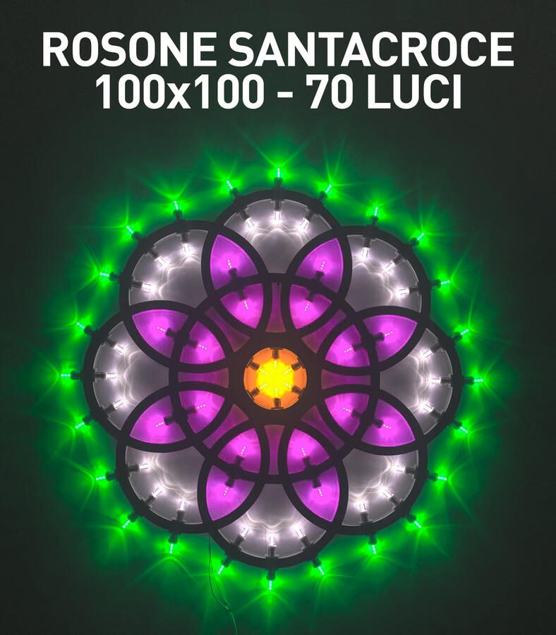 ROSONE SANTACROCE 100x100 70 LUCI - LUMINARIA SALENTINA D'ARREDO