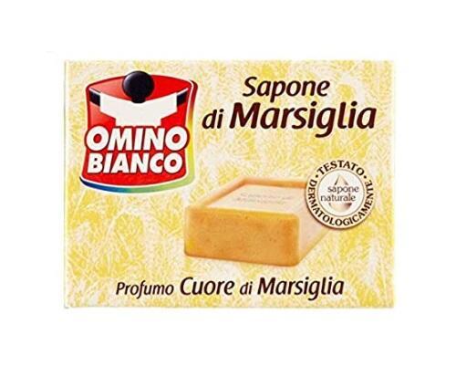 Omino Bianco - Sapone Di Marsiglia, Profumo Muschio Bianco - 250g profumi assortiti