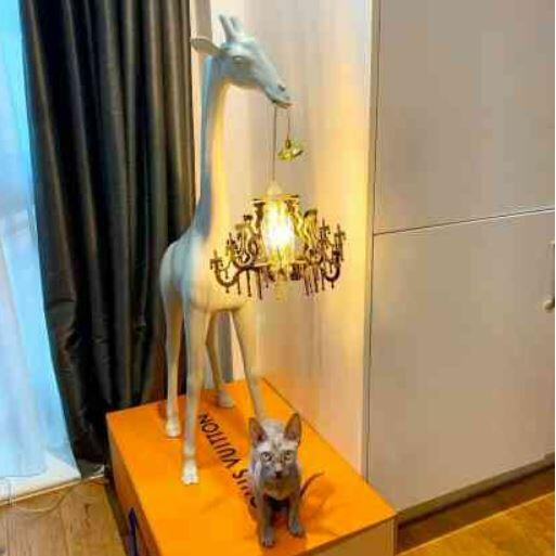 Lampada da Terra e da Tavolo Giraffe In Love XS di Qeeboo in Polietilene, Varie Finiture - Offerta di Mondo Luce 24