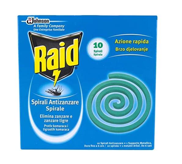 Raid Spirali Antizanzare con Supporto Metallico