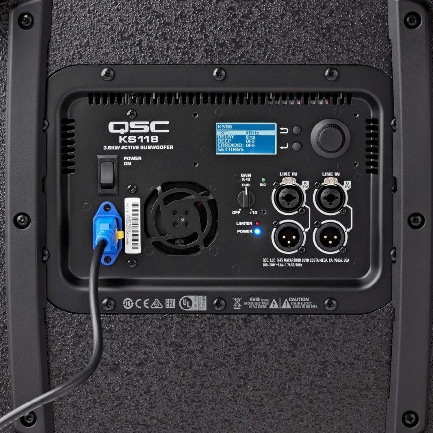 Qsc KS118-C Subwoofer Attivo 18 Pollici Amplificatore Integrato 3600 W