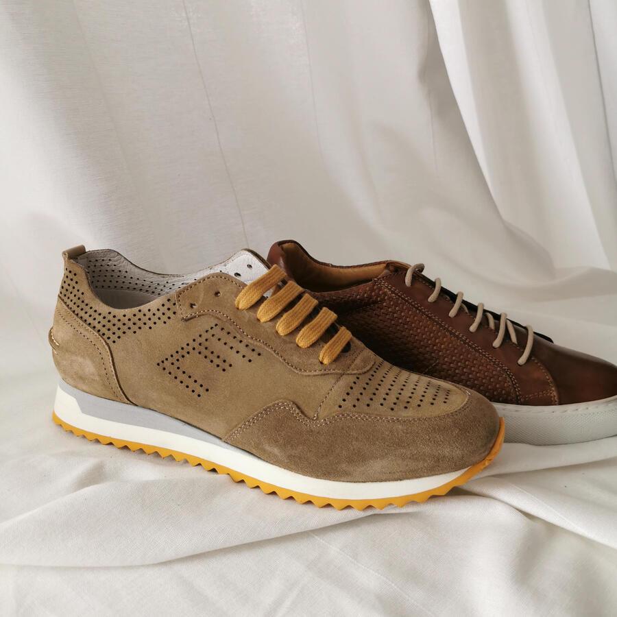 Sneakers in pelle - senape