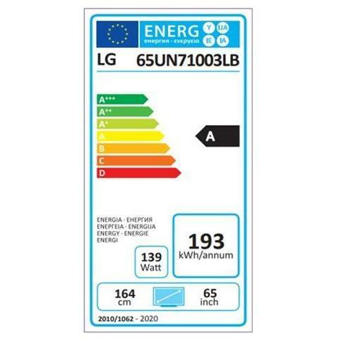 "LG TV LED Ultra HD 4K 65"" 65UN71003 Smart TV WebOS"