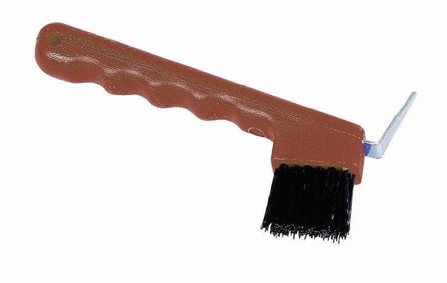 Nettapiede con spazzola colore rosso