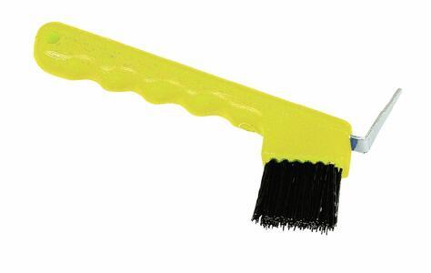 Nettapiede con spazzola colore giallo