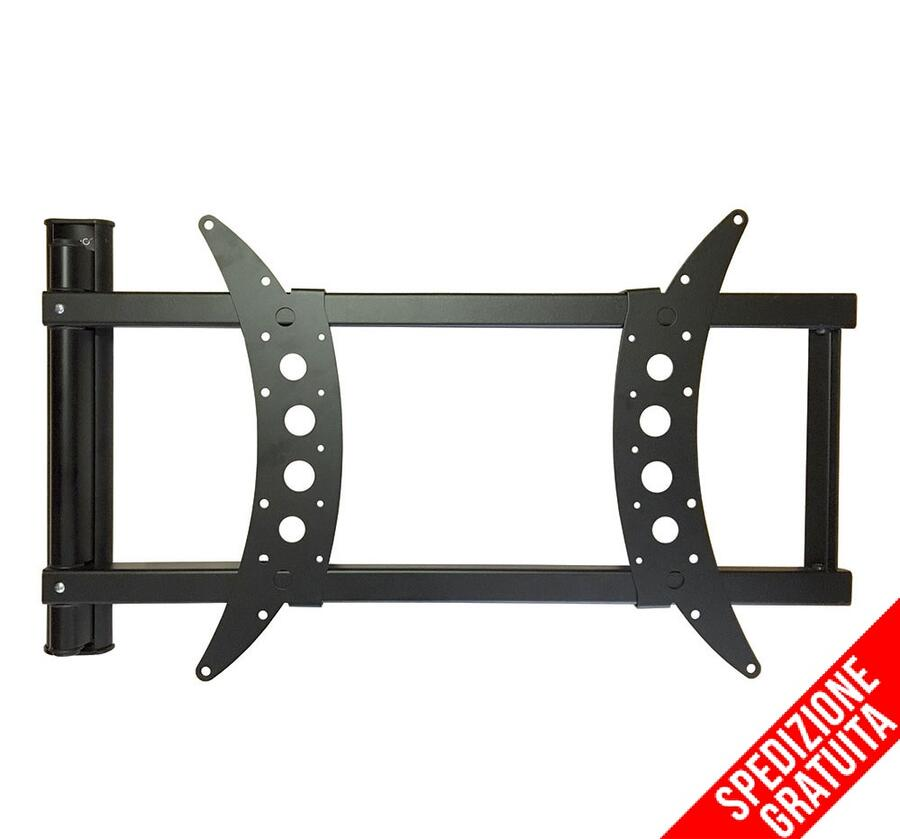 """SUPPORTO A MURO PER TV LCD CORNER LARGE 32""""-55"""" 30Kg MADE IN ITALY"""