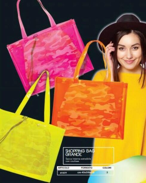 BORSA SHOPPING BIG LED COLORI ASSORTITI TINTAUNITA
