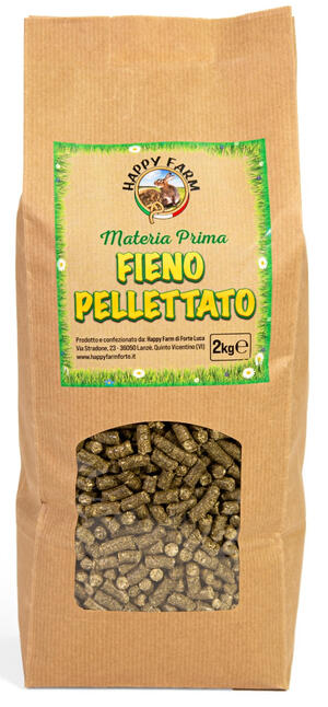 Happy Farm Fieno Pellettato 2 kg. - NOVITA'!!!!!!!