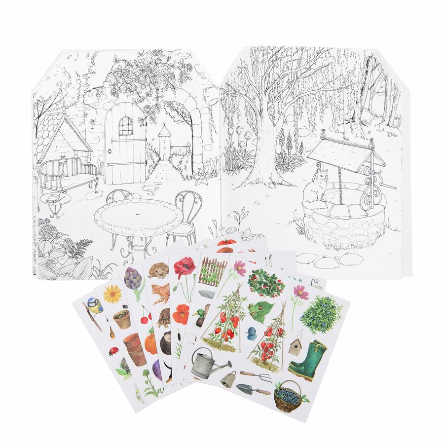 Album da colorare con adesivi - Il Giardiniere